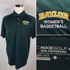 New listing NIKE DRI-FIT Men's Golf Polo Shirt Size L Large Baylor Women's Basketball Green
