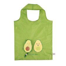 Sass & Belle Reusable Shopper Tote Bag w Pouch Green Avocado Grocery Avocuddle