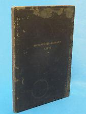 RARE BOOK: VERSE Richard Beer-Hofmann 1941 Ex Libris Philosopher Margolius