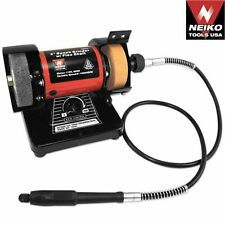 "NEIKO 10207A - HD 3"" Mini Bench Grinder Polisher W/ Flex Shaft Corded Elec - New"