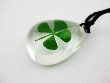 20pcs mini charm real green four leaf clover cool summer ice drop cute pendant