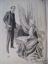 Illustration avec le ring canapé encre h.m.lewis c1893