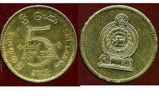 SRI LANKA  5 rupee  2009  ( bis )