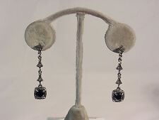 Black Cut Stone #E131 #210-A/5 Elegant Black Hanging Earring With