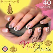 40 x Nail Art Water Transfers Stickers Wraps Decals Indian Asian Gr3