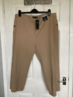 BNWT M&S Collection Women's Coffee Straight 7/8th High Rise Trousers Size 20S