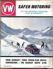 VW Volkswagen Safer Motoring 3/65 VW 1500 steering, 1500S, VW Powered Hovercraft