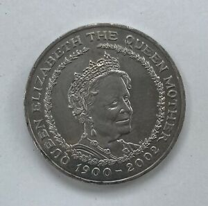 2002 -  QUEEN MOTHER 100TH BIRTHDAY FIVE POUND £5 COIN