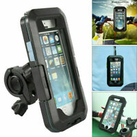 360° Waterproof Phone Mount Handlebar Holder Case Bike Motorcycle iPhone Samsung