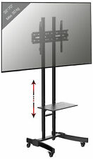 VCM Mobiler TV-Standfuß LED Ständer Fernseh Standfuss Universal Rollen VESA