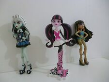 🌟 Trois Figurines Monster High 14 Cm