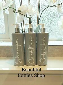BARGAIN  Mrs Hinch White Grey Bathroom Bottles Shampoo Free Personalisation
