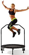 """Foldable (40"""") Trampoline Cardio Trainer with Handle - Black, Marcy Up to 250 LB"""