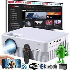 4K WiFi Mini LED Heimkino Beamer Bluetooth 1080P Projektor Halterung Android 9.0