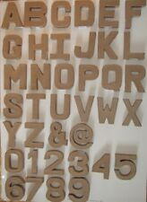 25x Papier Mache Cardboard Letter Number 10.5cm- choose