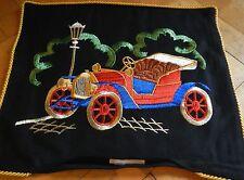 Kissen Kissenbezug Kissenplatte gestickt UNBENUTZT Oldtimer Auto DDR vintage