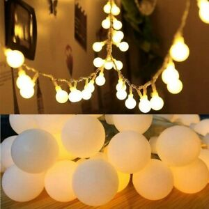 LED Lichterkette Kugeln Innen Außen Party Garten balkon Outdoor Beleuchtung Deko