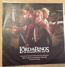 Lord Of The Rings Fellowship Of The Ring UK Promo Cd Album The Hobbit Enya 2001
