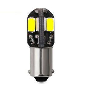 1x Ampoules BA9S LED T4W Canbus 1156 Blanc Xenon 6000K Veilleuses 8 leds 12 V