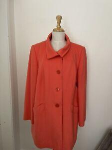 Basler Wool Angora Orange Melon Coat Size 44