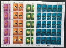 Hong Kong 2009 New Year Ox. Cpt.  Set Full Sheet of 25. MNH.