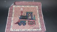 Warren Kimble Christmas Toys Train Unfinished Tapestry Craft Fabric Pillow