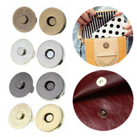 10Pcs Magnetic Snap Fasteners Clasp Buttons Wallet Purse Bag Craft DIY Clothes