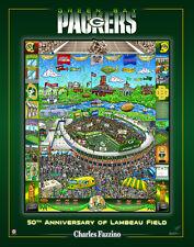 Green Bay Packers Lambeau 50th Anniversary Commemorative Fazzino Pop Art POSTER