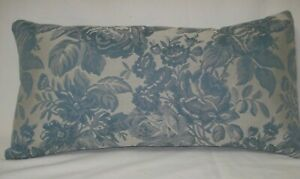 """Blue Vintage Woven Fabric Lumbar Decorative Accent Throw Pillow Cover 10""""x19"""""""