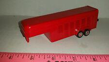 1/64 ERTL farm toy custom red 5th wheel horse livestock trailer pig cattle sheep