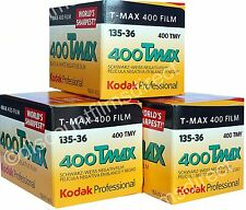 3 x KODAK TMAX 400 35mm 36exp CHEAP BLACK & WHITE CAMERA FILM by 1st CLASS POST