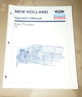 1989 Ford New Holland Bale Thrower 77 Operator's Manual P/N 42007711