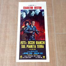 1975: OCCHI BIANCHI SUL PIANETA TERRA locandina poster affiche The Omega Man K32