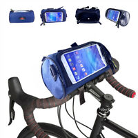 Cycling Front Bag Portable Bike Handlebar Bag Bicycle Touch Screen Phone Holder