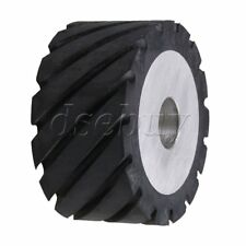 10 X 5cm Black Serrated Bearings Rubber Belt Grinder Sander Wheel