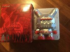 "DUNNY 8"" MECHA DUNNY MDA3 BY FRANK KOZIK SILVER VERSION KIDROBOT VINYL ART TOY"