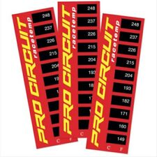Pro Circuit Universal MX Motocross Bike Engine Thermostrips Temp Stickers (3 Pac