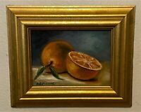 Original Signed Oil on Board Painting - Fruit Still Life - K. Rutledge
