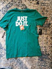 NWT Men's Green Nike Just Do It Tee T-Shirt Size L-Tall