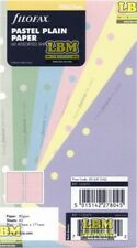 Filofax Personal size Pastel Plain Paper Assorted Colours Insert Refill 132673