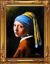 Jan Vermeer-Das Mädchen mit dem Perlenohrring-Große Meister-47x37cm Ölgemälde