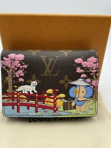 Louis Vuitton Vivienne Pink Victorine Wallet Xmas Edition 2021 Japanese Garden