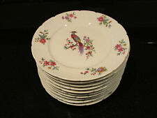 10 Signed Haviland Limoges France Plates 6.25in Peacock Birds RARE Old Amazing