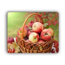 Fall Autumn Apple Basket Photo Computer Mouse Pad for Home and Office