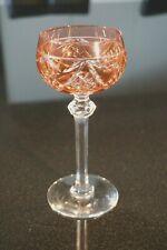 Beautiful Vintage Bohemian Flash Light Cranberry Wine Hock