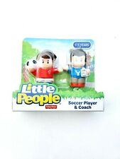 New Fisher Price Little People Soccer Player & Coach