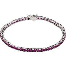 Ruby Tennis Bracelet In 14K White Gold