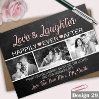Personalised Photo Wedding Thank You Cards Inc Envelopes Free draft available