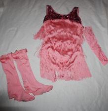 Women Curtain Call E1889 Pink Flapper Dance Costume Size ALA Large