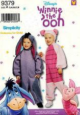 Simplicity Disney's Child's Eeyore and Piglet Costume Pattern 9379  3-8 UNCUT